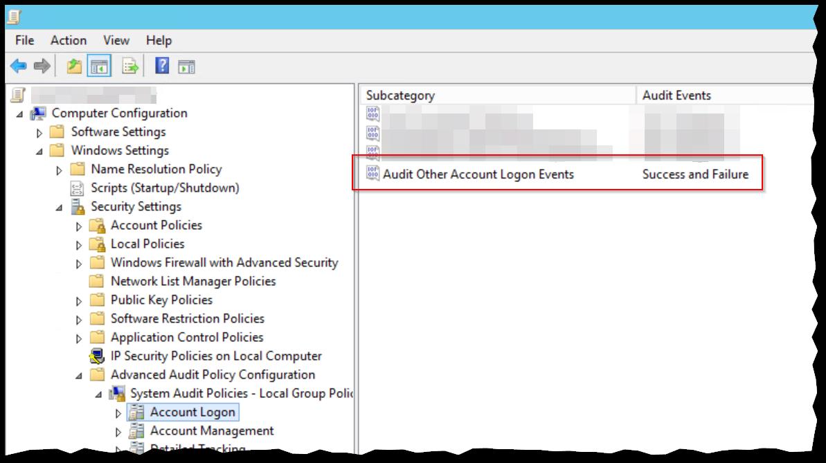 KB10115 - GPO: Enable Advanced Logon Audit