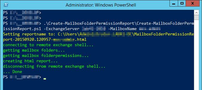 PS: Create-Mailbox Folder Permission Report